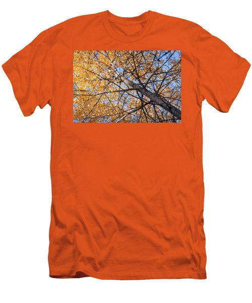 Orange Autumn Tree. Men's T-Shirt (Athletic Fit)