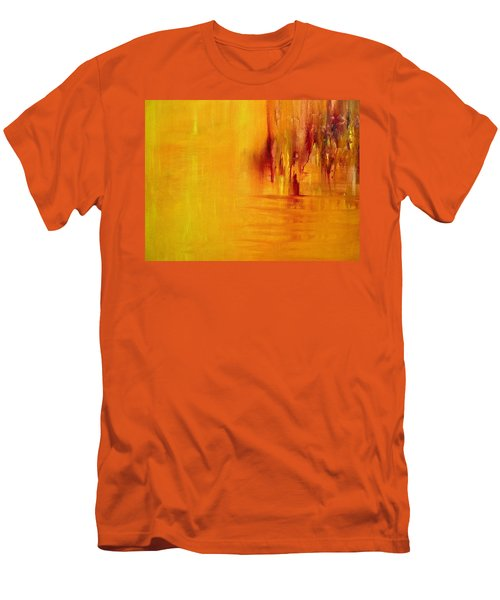 Orange Men's T-Shirt (Athletic Fit)