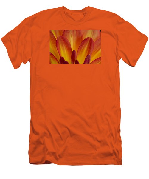 Orange Dahlia Petals Men's T-Shirt (Athletic Fit)