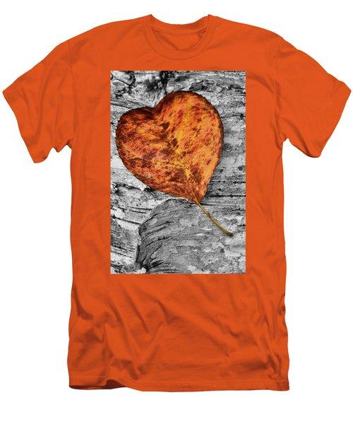 Orange Leaf Men's T-Shirt (Athletic Fit)