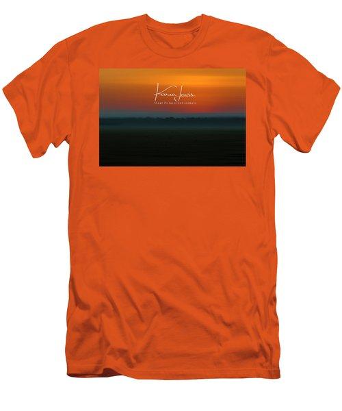 Men's T-Shirt (Slim Fit) featuring the photograph Orange Mara Dawn by Karen Lewis