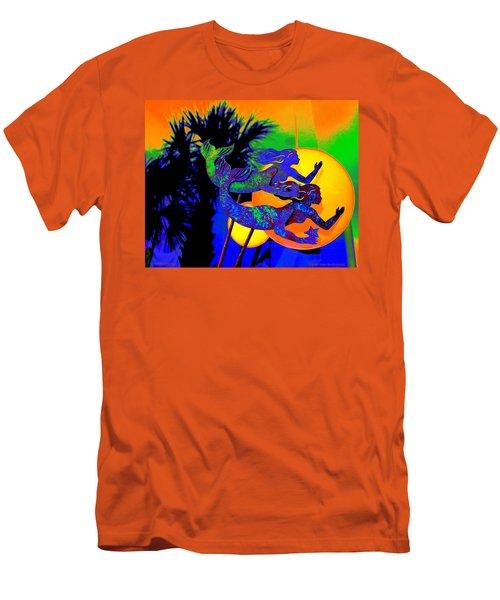 Orange Moon Synchronicity Men's T-Shirt (Athletic Fit)