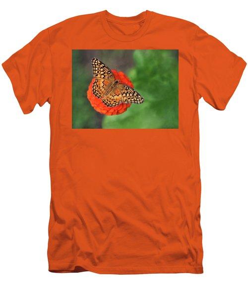 Orange Orange Green Men's T-Shirt (Athletic Fit)