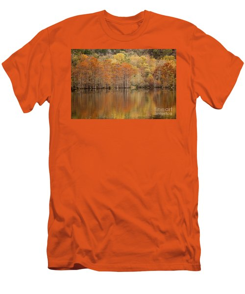 Men's T-Shirt (Slim Fit) featuring the photograph Orange Pool by Iris Greenwell