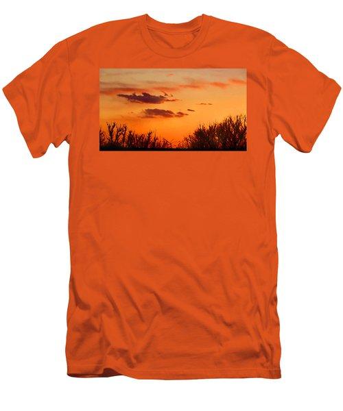 Orange Sky At Night Men's T-Shirt (Athletic Fit)
