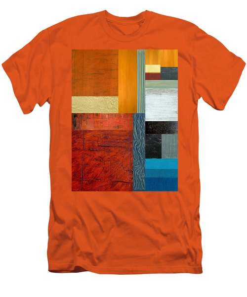 Men's T-Shirt (Slim Fit) featuring the painting Orange Study With Compliments 1.0 by Michelle Calkins