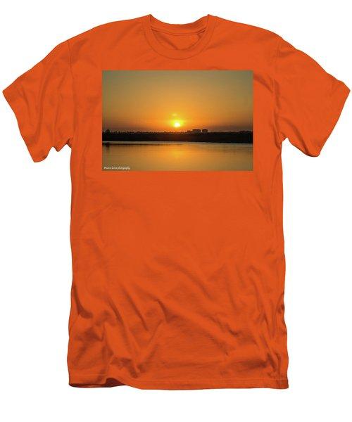 Orange Sunrise Men's T-Shirt (Slim Fit) by Nance Larson