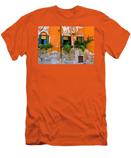 Orange Wall Men's T-Shirt (Slim Fit) by Harry Spitz