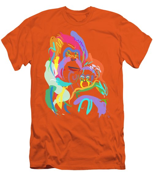 Orangutan Mom And Baby Men's T-Shirt (Athletic Fit)