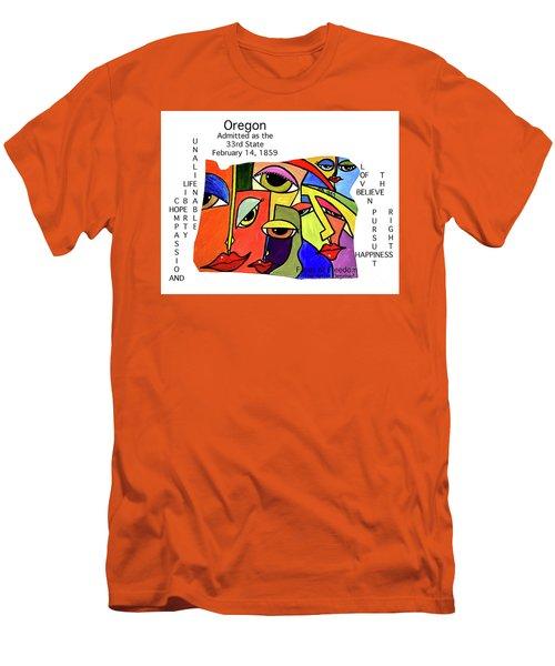 Oregon Men's T-Shirt (Athletic Fit)