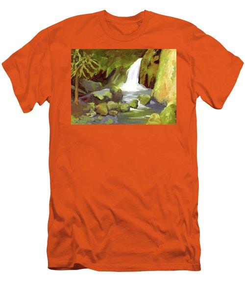 Oregon Waterfall Men's T-Shirt (Slim Fit) by Alice Leggett