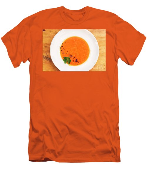 Organic Fresh Carrot And Pumpkin Soup With Sesame Seeds Men's T-Shirt (Athletic Fit)