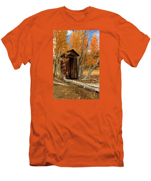 Outhouse In The Aspens Men's T-Shirt (Slim Fit) by James Eddy