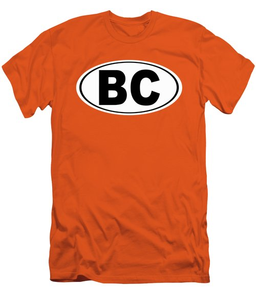 Men's T-Shirt (Slim Fit) featuring the photograph Oval Bc Boulder City Colorado Home Pride by Keith Webber Jr