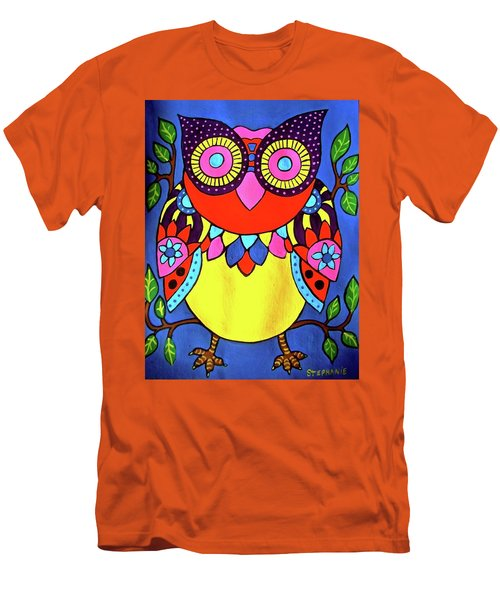 Owl Men's T-Shirt (Slim Fit) by Stephanie Moore