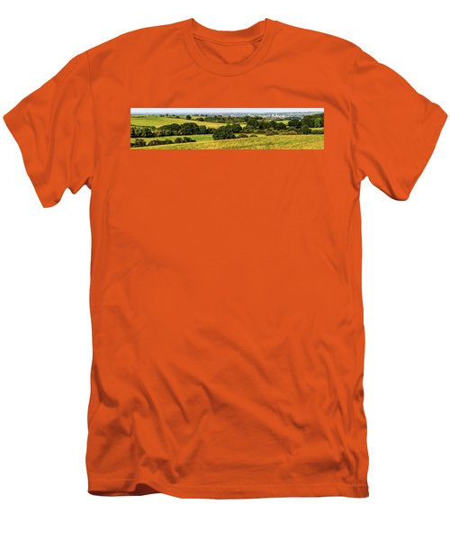 Oxford Spires And Countrysidepanorama Men's T-Shirt (Slim Fit) by Ken Brannen