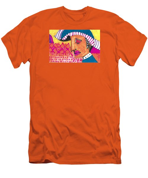 Men's T-Shirt (Slim Fit) featuring the painting Pagliacci Tuscany by Don Koester