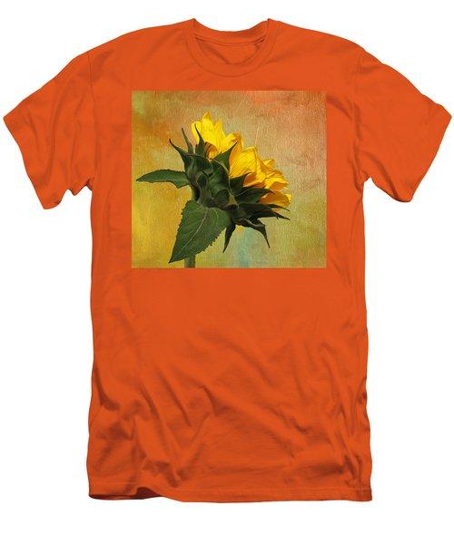 Painted Golden Beauty Men's T-Shirt (Slim Fit) by Judy Vincent