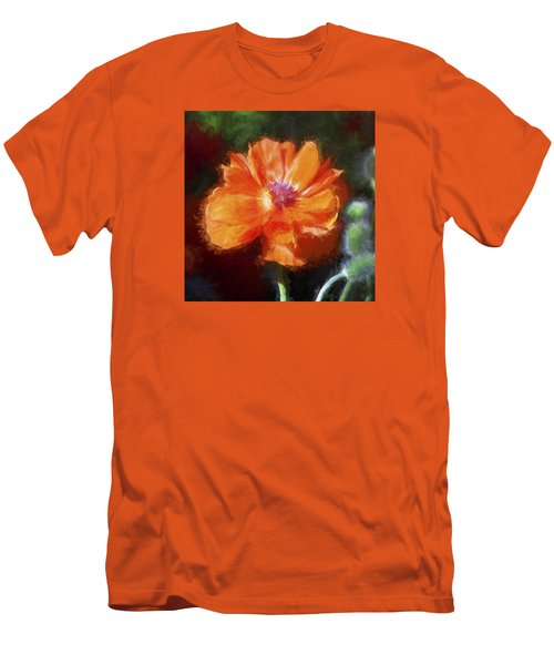 Painted Poppy Men's T-Shirt (Slim Fit) by Christina Lihani