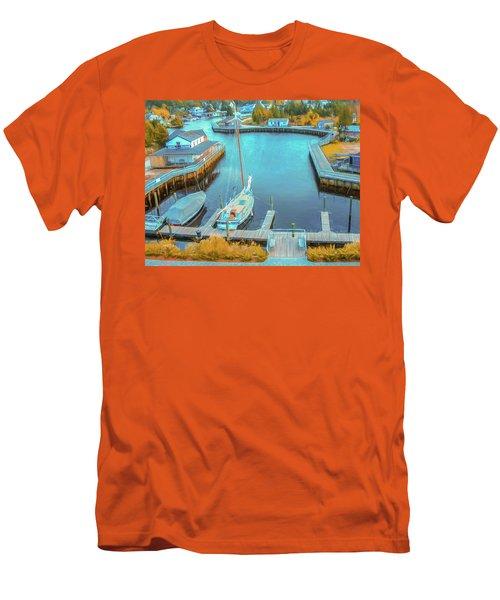 Painterly Tuckerton Seaport Men's T-Shirt (Athletic Fit)