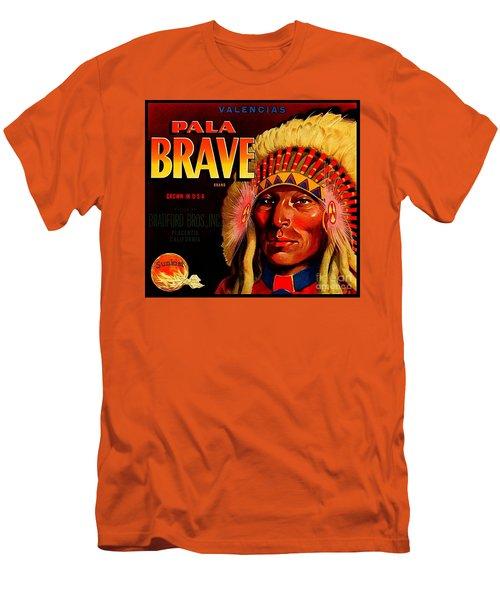 Pala Brave 1920s Sunkist Oranges Men's T-Shirt (Slim Fit) by Peter Gumaer Ogden