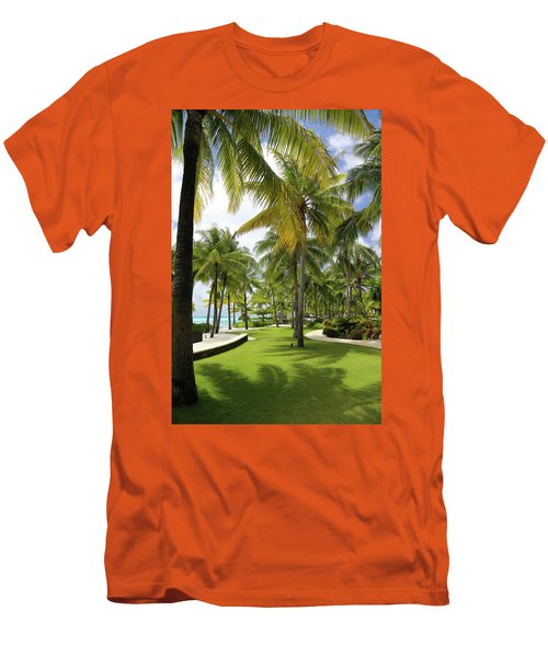 Men's T-Shirt (Slim Fit) featuring the photograph Palm Trees 2 by Sharon Jones