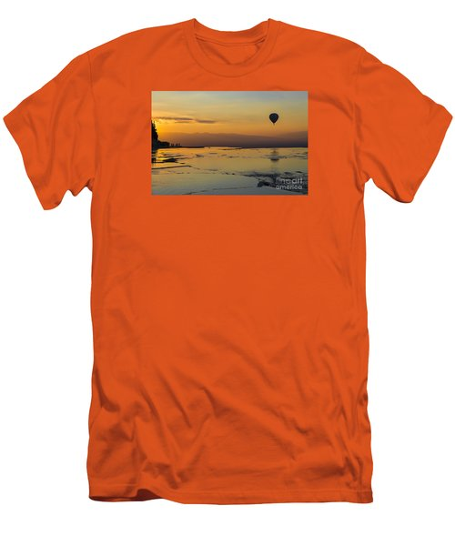 Men's T-Shirt (Slim Fit) featuring the photograph Pammukale Sunset by Yuri Santin