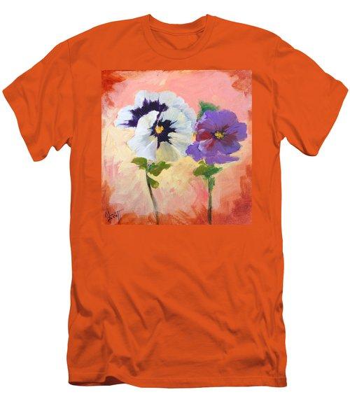 Pansies Men's T-Shirt (Athletic Fit)