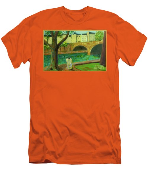 Men's T-Shirt (Slim Fit) featuring the painting Paris Rubbish by Paul McKey