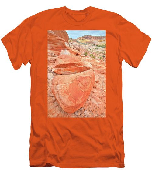 Men's T-Shirt (Slim Fit) featuring the photograph Park Road View In Valley Of Fire by Ray Mathis