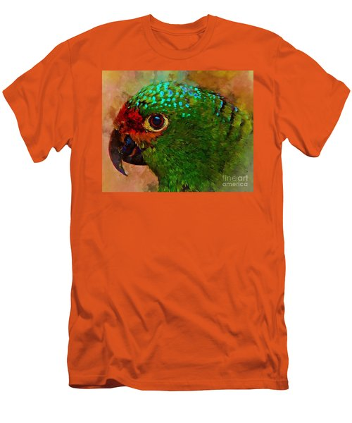 Men's T-Shirt (Slim Fit) featuring the photograph Parrote by John Kolenberg