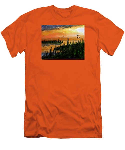 Passing The Rugged Shore Men's T-Shirt (Slim Fit) by R Kyllo