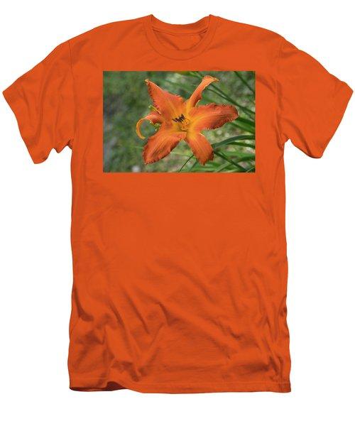 Pastel Orange Lily Men's T-Shirt (Athletic Fit)