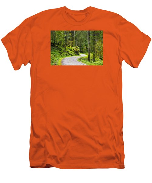 Men's T-Shirt (Slim Fit) featuring the photograph Path In The Forest by Yuri Santin