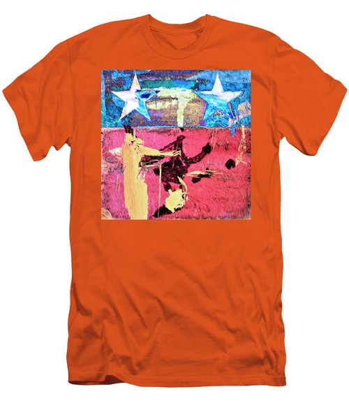Men's T-Shirt (Slim Fit) featuring the painting Patriot Act by Dominic Piperata