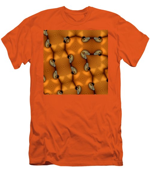 Opposing Patterns Men's T-Shirt (Slim Fit) by Ron Bissett