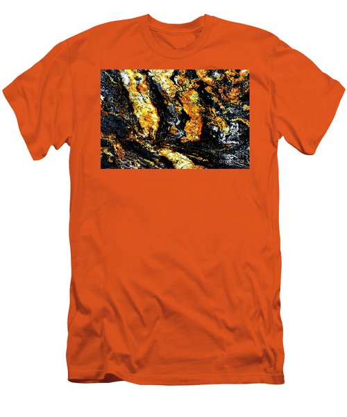 Men's T-Shirt (Slim Fit) featuring the photograph Patterns In Stone - 185 by Paul W Faust - Impressions of Light