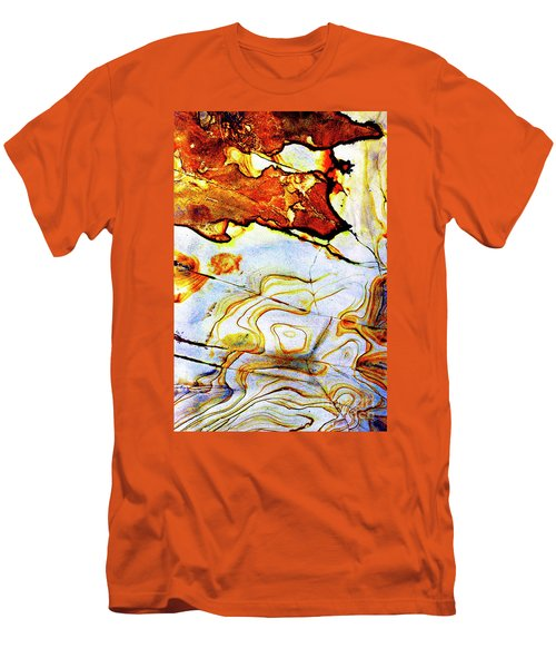 Men's T-Shirt (Slim Fit) featuring the photograph Patterns In Stone - 201 by Paul W Faust - Impressions of Light