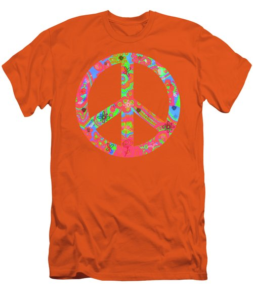 Peace Men's T-Shirt (Slim Fit) by Linda Lees