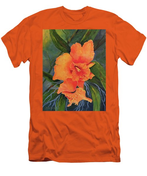 Peach  Blush Orchid Men's T-Shirt (Athletic Fit)