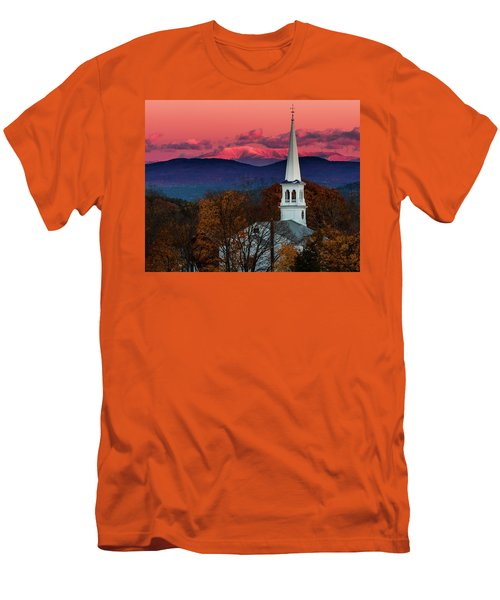 Peacham And White Mtn Sunset Men's T-Shirt (Athletic Fit)