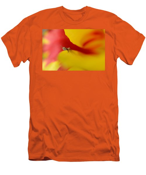 Peeking Men's T-Shirt (Slim Fit) by Janet Rockburn
