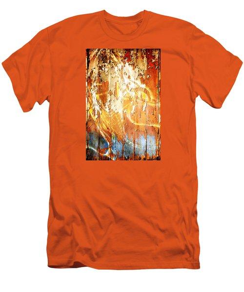 Peeling Wall Portrait Men's T-Shirt (Slim Fit) by Andrea Barbieri