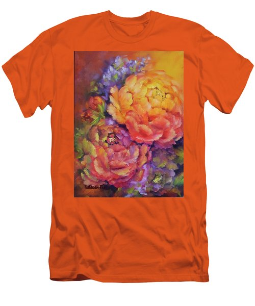 Peonies At Sunset Men's T-Shirt (Athletic Fit)