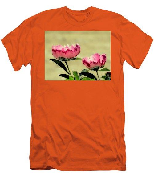 Peony Pair - Enhanced Men's T-Shirt (Slim Fit) by MTBobbins Photography