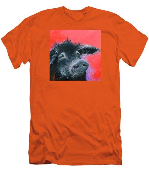 Percival The Black Pig Men's T-Shirt (Slim Fit) by Jan Matson