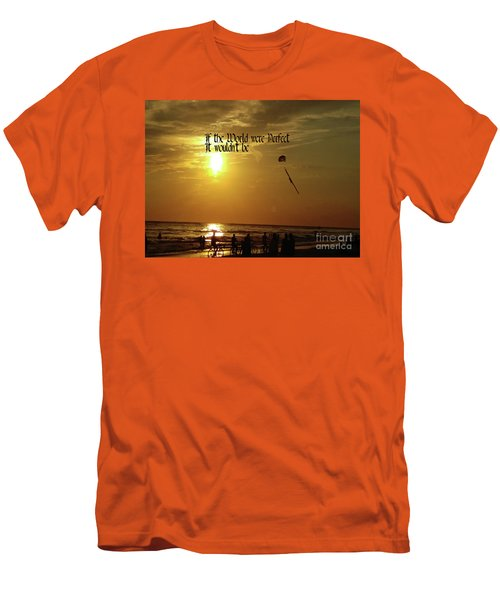 Perfect World Men's T-Shirt (Slim Fit) by Gary Wonning