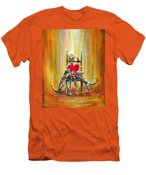 Men's T-Shirt (Slim Fit) featuring the painting Pet Love by Heather Calderon