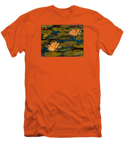 Men's T-Shirt (Slim Fit) featuring the photograph Picnic By The Pond by John  Kolenberg