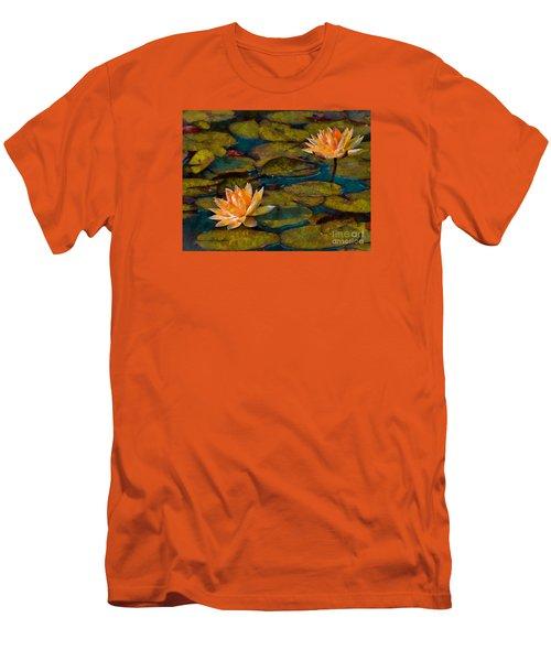 Picnic By The Pond Men's T-Shirt (Slim Fit) by John  Kolenberg